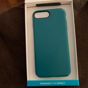 Speck teal iPhone 6s Plus, 7plus 8 plus cover USED